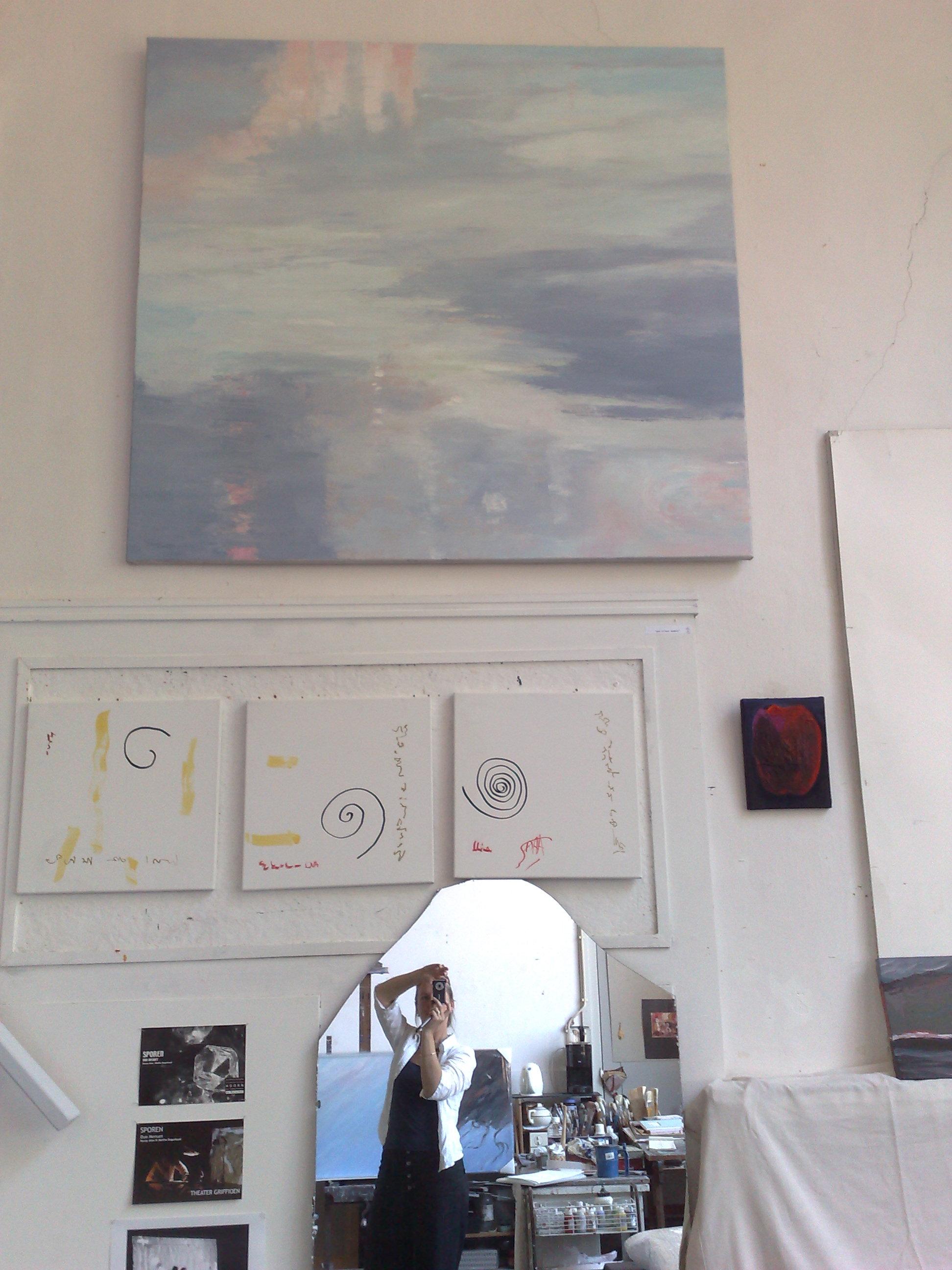 Zelfportret op atelier Nuray Atas